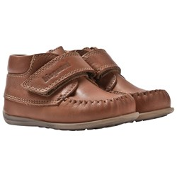 Bisgaard Prewaker Leather Shoes Velcro Congac