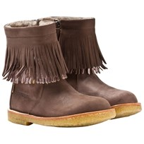 Bisgaard TEX Fringe Boots Wool Brown 304 Brown