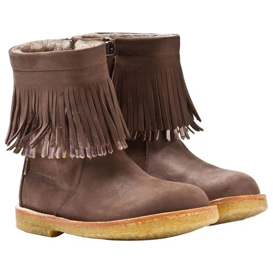 Bisgaard TEX Boots with Fringe Brown 304 Brown