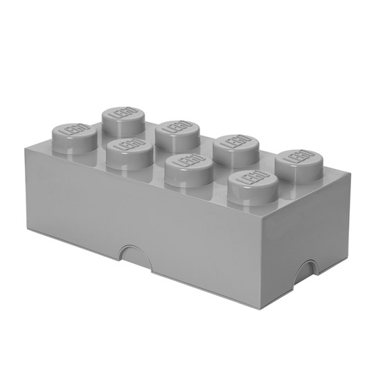 LEGO® 8-Stud Stone Grey Storage Brick Black