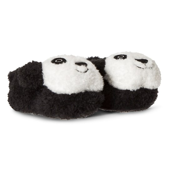 United Colors of Benetton Soft Panda Bear Slippers Black&White BLACK&WHITE
