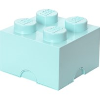 LEGO Inredning LEGO, Förvaring 4, Design Collection, Aqua Blue