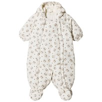United Colors of Benetton Panda Bear Print Hooded Snow Suit Off White Off white