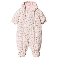 United Colors of Benetton Panda Bear Print Hooded Snow Suit Pink Pink