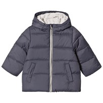 United Colors of Benetton Down Puffa Jacket With Fleece Lined Hood Dark Grey Dark grey