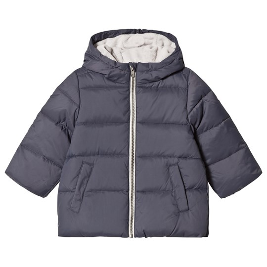 0a4288c7fb United Colors of Benetton. Down Puffa Jacket With Fleece Lined Hood Dark  Grey