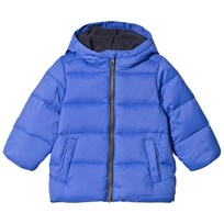 United Colors of Benetton Down Puffa Jacket With Fleece Lined Hood Blue Blue