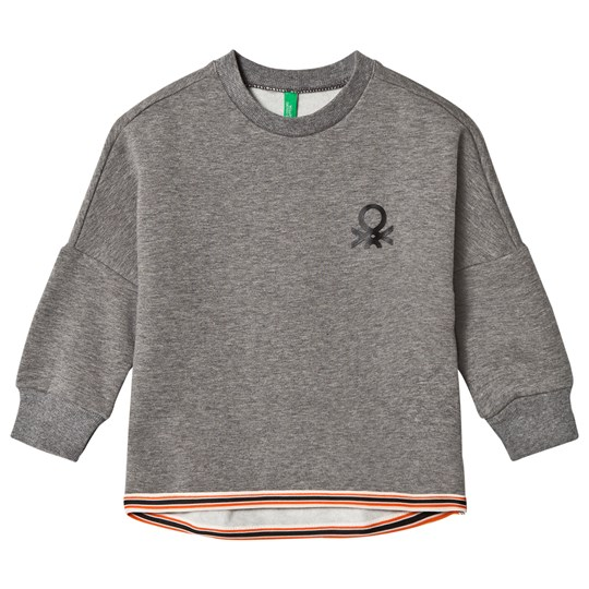 United Colors of Benetton Oversized Jersey Tröja Grå Mid Grey
