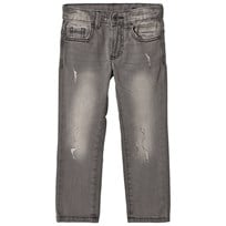 United Colors of Benetton Distressed 5 Pocket Denim Grey Black