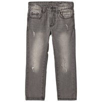 United Colors of Benetton Distressed 5 Pocket Jeans Grey Black