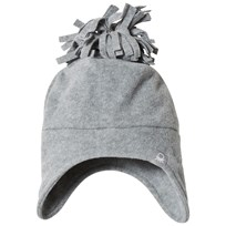 United Colors of Benetton Fleece Bobble Hat Grey Black