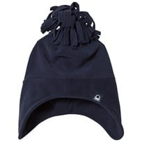 United Colors of Benetton Fleece Bobble Hat Navy Navy