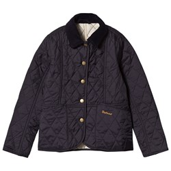Barbour Navy Summer Liddesdale Quilted Jacket with Pearl Lining