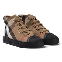 Burberry Beige and Black Classic Check Zip and Lace Trainers CLASSIC/BLACK