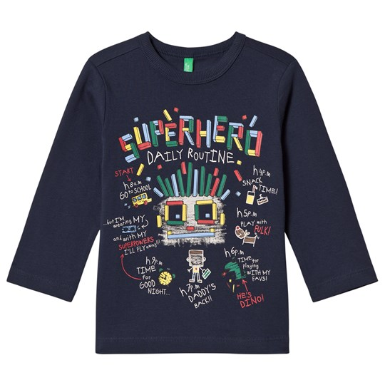 United Colors of Benetton Superhero Routine T-Shirt Navy Navy