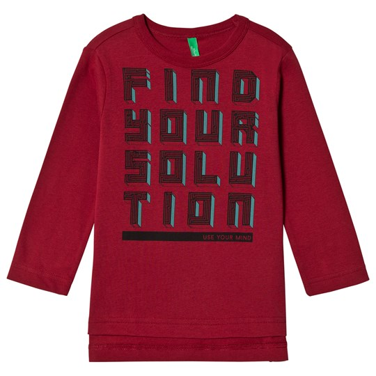 United Colors of Benetton Find Your Solution T-Shirt Red Red