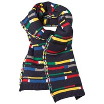 United Colors of Benetton Colour Block Knit Scarf Navy Multi NAVY MULTI