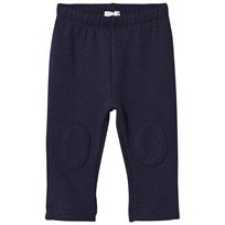 United Colors of Benetton Soft Jersey Sweatpants with Knee Patches Navy Marinblå