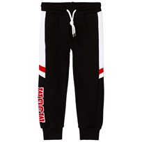 MSGM Black and White Pannel Logo Sweatpants 110