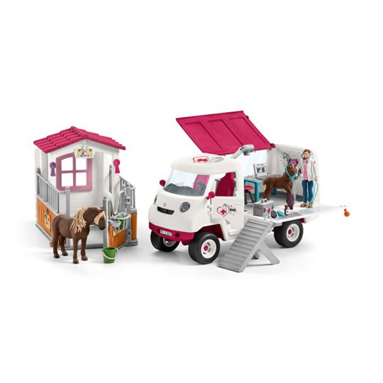 Schleich Schleich, The vet visits the Stables Pink