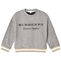 Burberry Grey Branded Sweatshirt Grey Melange