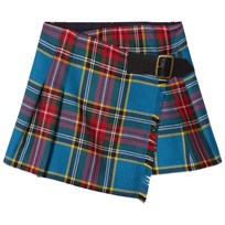 Burberry Blue and Red Klorrie Kilt CYAN BLUE