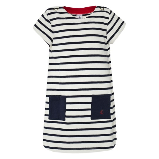 Petit Bateau Dress Striped Blue/White Blue