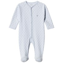Livly Saturday Simplicity Footed Baby Body Baby Blue/gold Dots Baby Blue/silver Dots