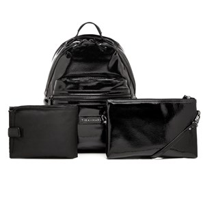 Image of Tiba + Marl Black Patent Miller Backpack Changing Bag (2908499407)