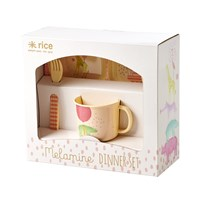 Rice Baby Melamine Dinner Set with Animal Prints Girls Animal Print