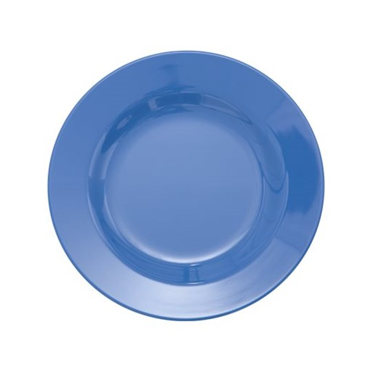 Rice Melamine Round Side Plate New Dusty Blue New Dusty Blue