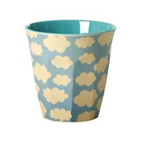 Rice Melamine Medium Cup Cloud Print Cloud Print