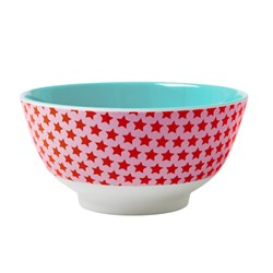 Rice Melamine Bowl Two Tone with Star Print