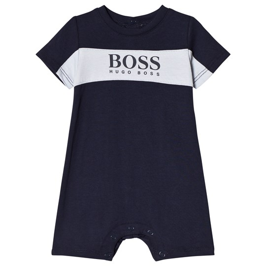 BOSS Navy Branded Jersey Romper 849
