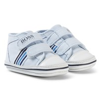 BOSS Pale Blue Branded Crib Shoes 771