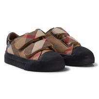 Burberry Beige and Black Classic Check Velcro Trainers CLASSIC/BLACK