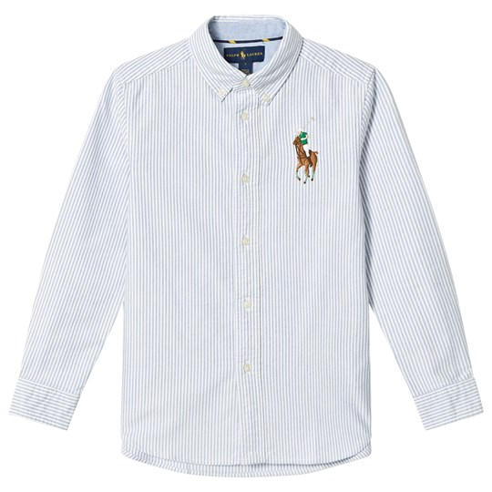 Ralph Lauren Blue Stripe Big Pony Shirt 004