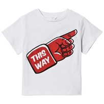 Stella McCartney Kids This Way Print Arrow T-shirt Vit 9082