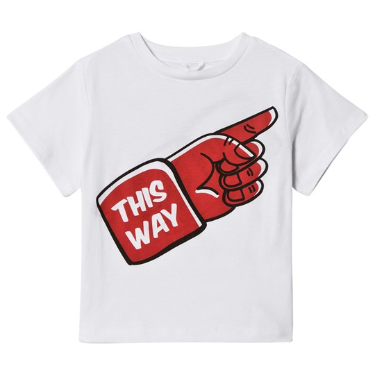 Stella McCartney Kids White This Way Print Arrow Tee 9082