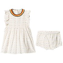 Stella McCartney Kids Cream and Multi Spot Dress with Knickers 9232