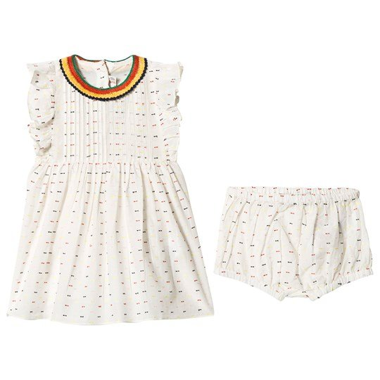 Stella McCartney Kids Cream and Multi Spot Dress with Bloomers 9232