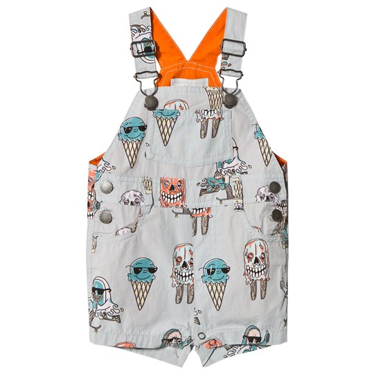 Stella McCartney Kids Grey Ice Cream Print Chester Overalls 3760