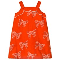 Stella McCartney Kids Bow Embroidered Daffodil Klänning Röd 6562