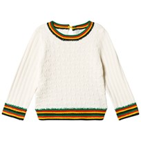 Stella McCartney Kids Textured Faith Tröja Cream/Multi 9232
