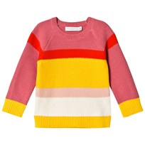 Stella McCartney Kids Pink and Yellow Stripe Eva Jumper 5960