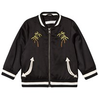 Stella McCartney Kids Black Palm and Skatepark Embroidered Eastwood Bomber Jacket 1073