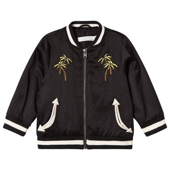 Stella McCartney Kids Black Palm and Skatepark Eastwood Bomber Jacket 1073