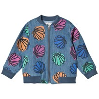 Stella McCartney Kids Blue Sequin Shell and Sequin Bomber Abbot Jacket 4268