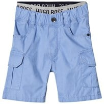 BOSS Pale Blue Cargo Shorts with Branded Waistband 77K