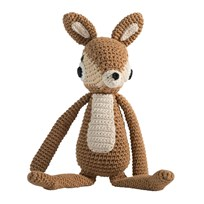 sebra Crochet Deer Light Brown BROWN